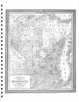 Wisconsin State Map 1850, Monroe County 1897
